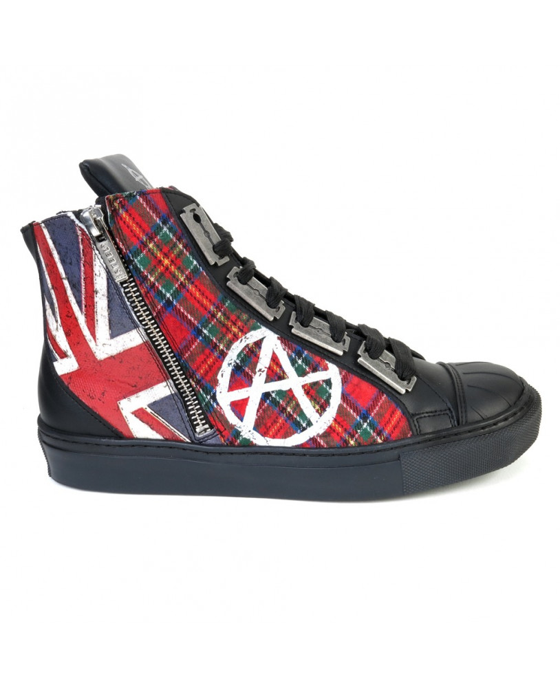 quality design 14b43 f6b03 Sneakers alte rosso e nero Steelground