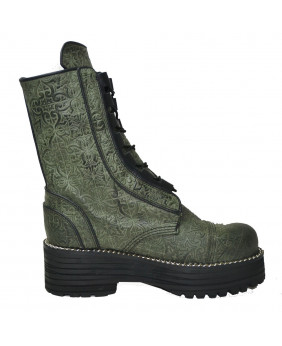 Botte verte en cuir Steelground