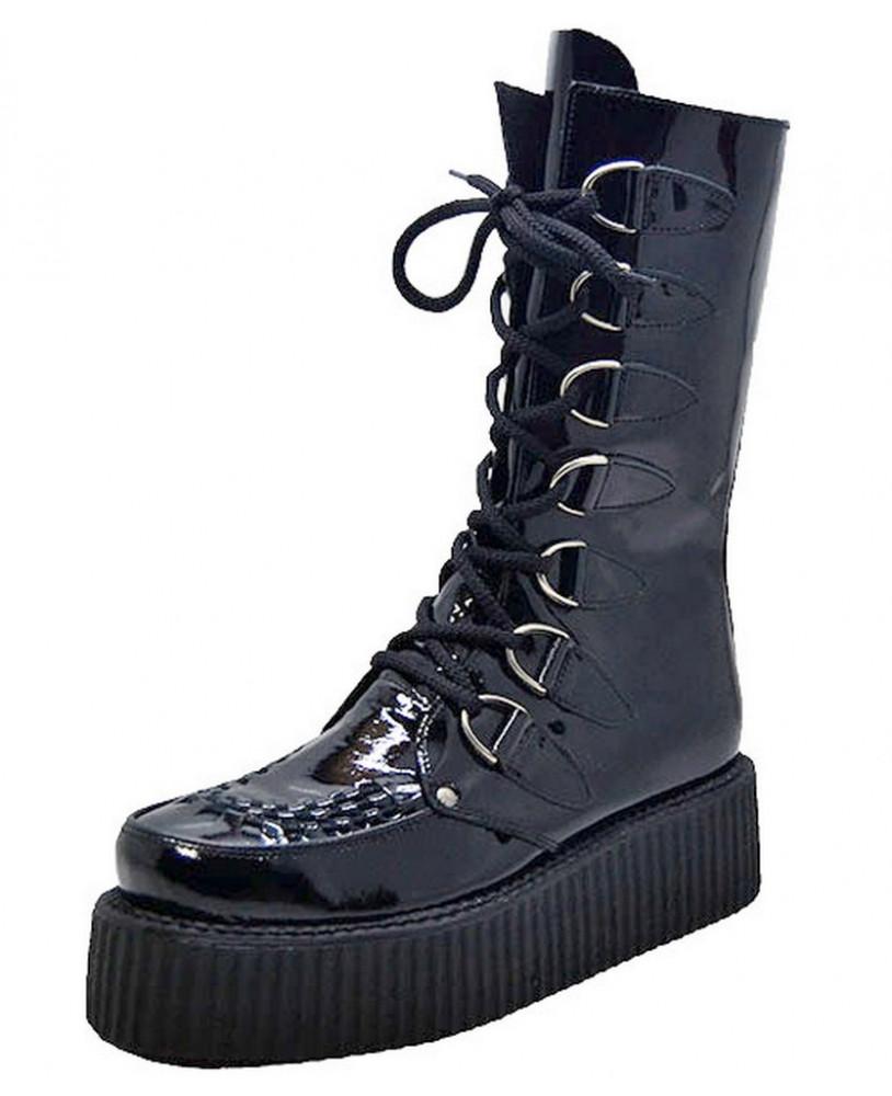 Black patent Boot creepersSteelground