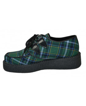 green Creepers in leather...
