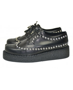 black Creepers in grained...