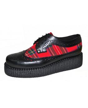 Creepers noire et rouge en...