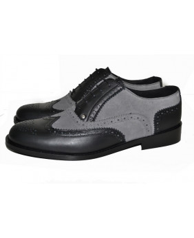 Gray and black Derby shoe...