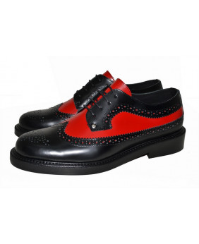 Red and black City shoe in...