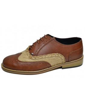 Brown City shoe in vegan...