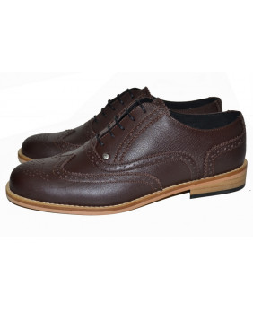 Brown Derby shoe in grained...
