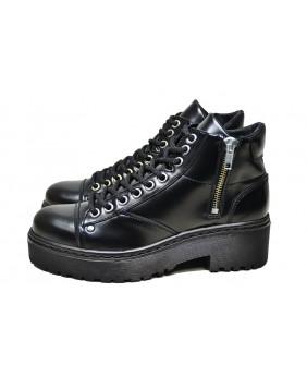 Black Wedge shoe in...