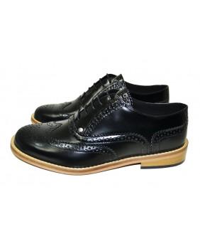 Black Derby shoe in box...
