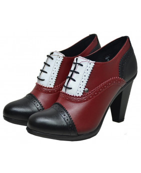 Escarpin bordeaux en cuir...