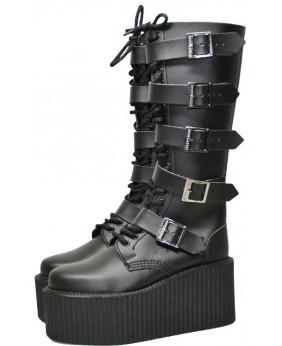Black Boot in vegan leather...