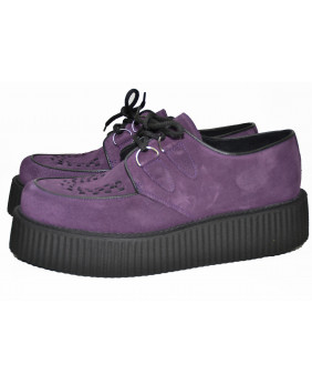 purple Creepers in suede...