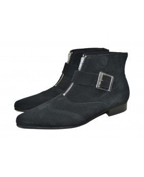 Black dragon boot in suede...
