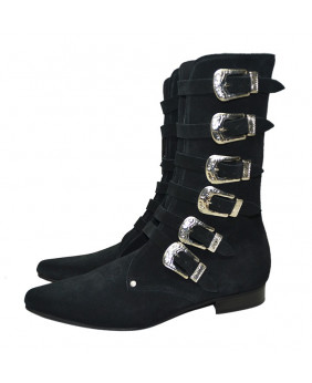 Black Boot in suede...