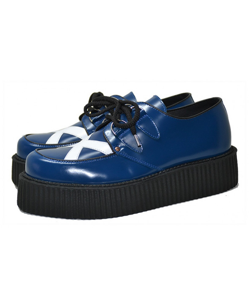 Steelground Bleue Et Blanche Creepers Creepers 29eEWDHIY