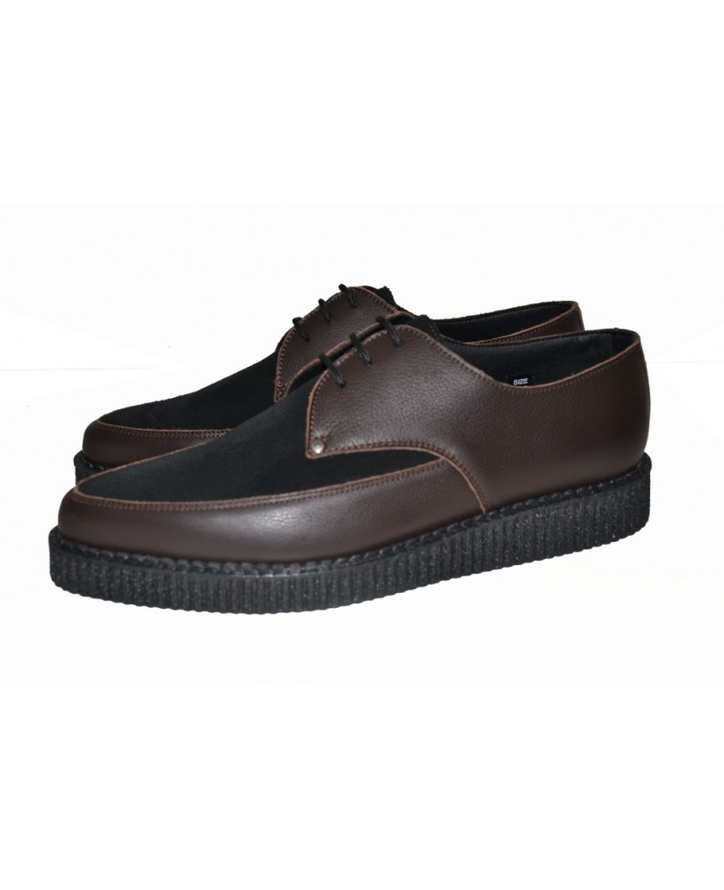Noire Pointue Marron Et Creepers Steelground 8mn0Nw