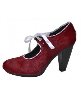 mieux choisir grande vente magasin en ligne Escarpin rouge en cuir grainé & fourrure bovine Steelground