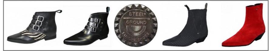 Botines de hombre de Steelground en cuero o gamuza, en muchos colores.