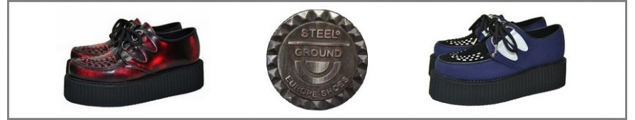 Toda la colección Steelground de creepers a suelas dobles