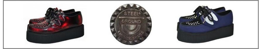 Tutta la collezione  Steelground di creepers a suole doppie