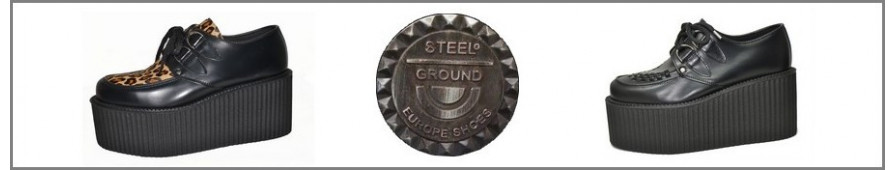 Collezione di Creepers a suole tripli della marca Steelground