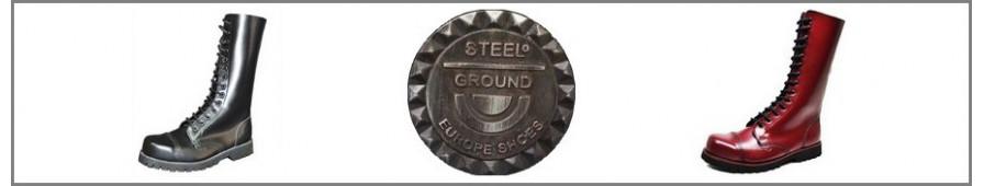 La collezione Steelground di ranger in pelle con 14 occhielli