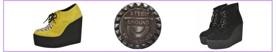 Steelground-Keilschuhe für Damen