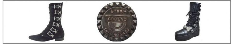 Die stiefel aus Leder Männer von Stilen von Steelground