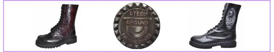 Stivali rangers 10 fori Steelground per donna