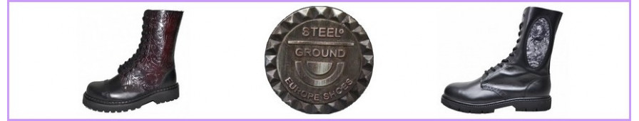 Botas rangers 10 agujeros Steelground para mujer