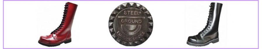 Découvrez les modèles de rangers 14 trous Steelground pour femme