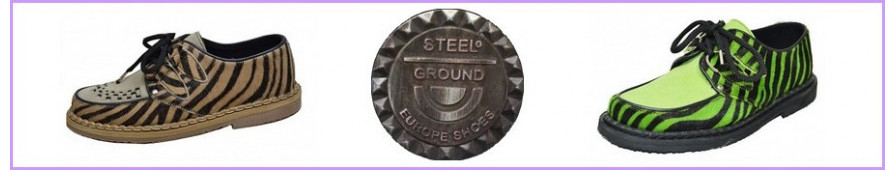 Creepers Steelground à semelle fine pour femme