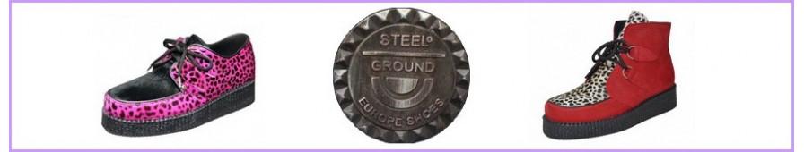 Creepers Steelground a suola semplice per donna