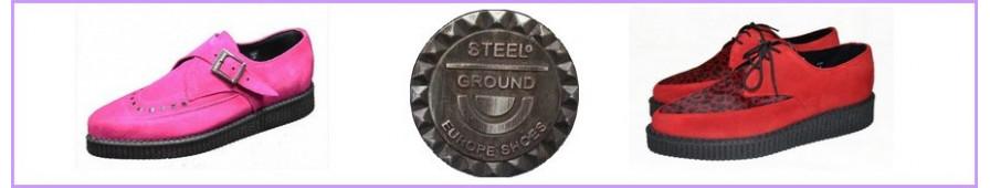 Creepers Steelground suela puntiaguda de las mujeres