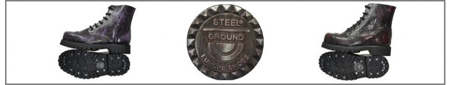 Rangers Collection 6 Eyelets Steelground